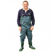 Prsačky Shakespeare Sigma Nylon PVC Chest Wader Cleated Sole vel. 10